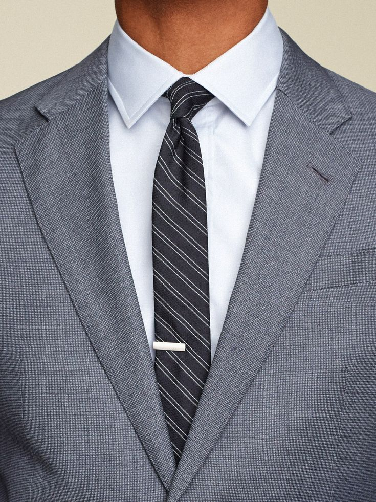 The Standard Notch Lapel Suit by Giorgio Armani / Shirt by Hamilton Shirts / Tie bar by The Tie Bar