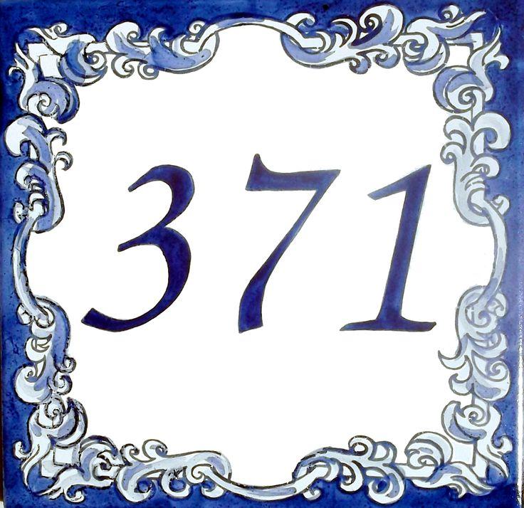 N mero para casa alc ntara e azul quadros e wallpapers for Azulejo numero casa