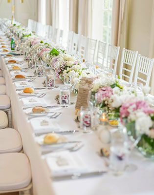 Touches of blush pink made this table pretty and feminine. Image: Mint Photography