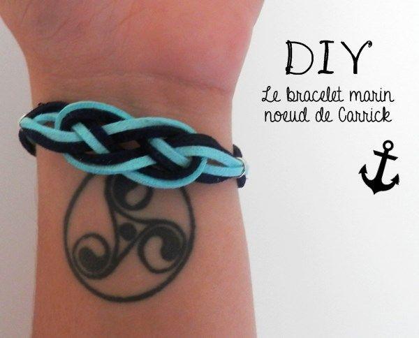 DIY : bracelet marin, noeud de Carrick