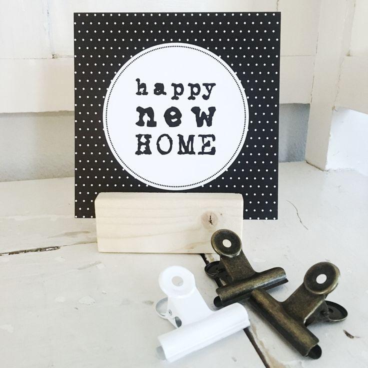 Happy new home felicitatiekaartje
