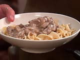 Paula Deen's Beef Stroganoff. This is the BEST stroganoff recipes I have ever made.