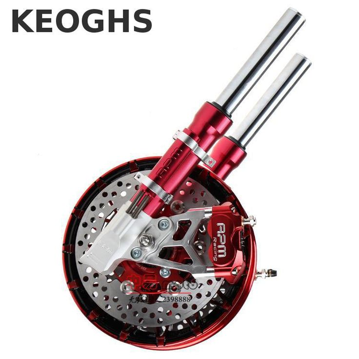 Keoghs Motorcycle Front Shock Absorber And Double Twin Brake System For Yamaha Scooter Rsz Jog Force Bws Cygnus Ttx Modify #Affiliate