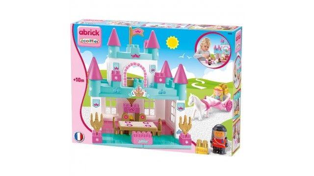 Abrick Speelset Kasteel Prinses  Er was eens... ...Een heel mooi sprookjeskasteel. Het kasteel heef een balzaal een slaapkamer en een houtkachel zodat de prinses lekker warm blijft. De prins is er ook samen met zijn paard en een koets om met de prinses een mooi ritje te maken. Dit sprookjeskasteel is geschikt voor kinderen vanaf 18 maanden en zal hen stimuleren hun creativiteit te gebruiken.  EUR 29.95  Meer informatie