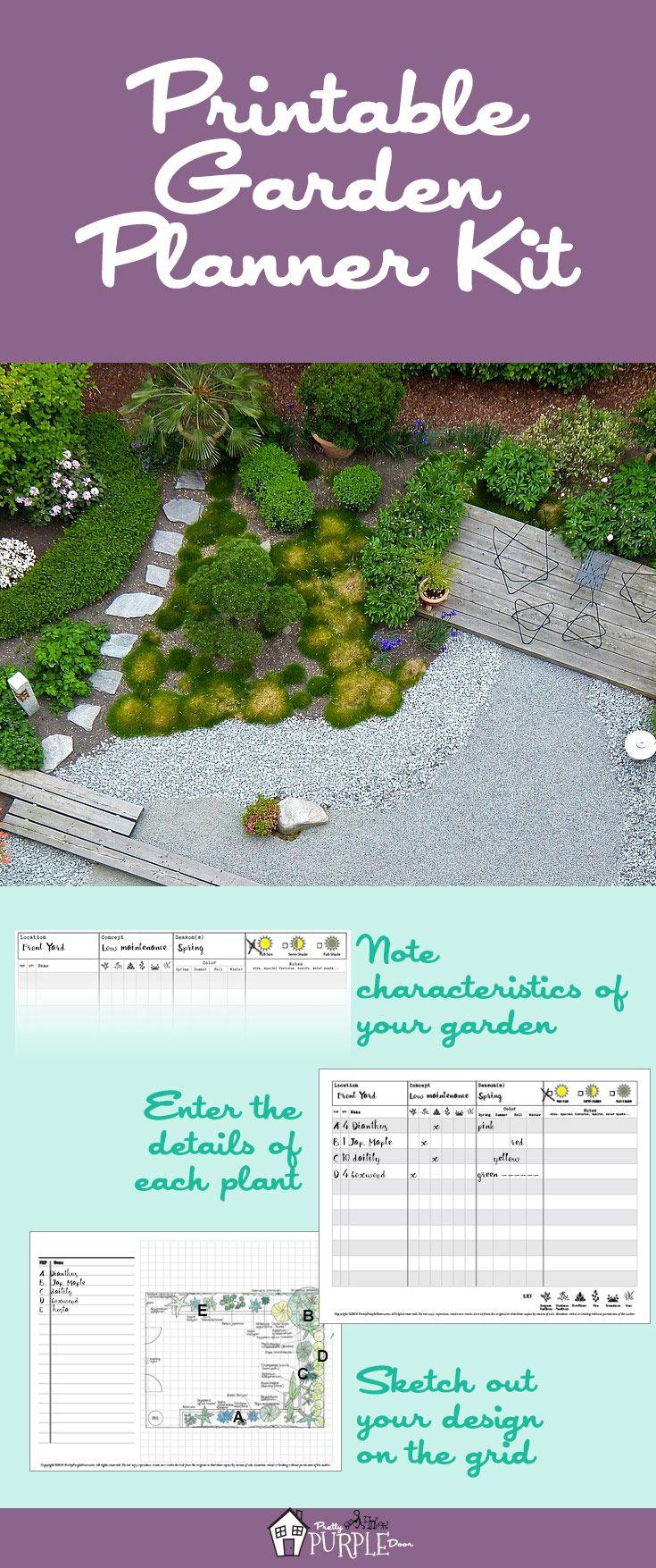 Printable Garden Planner Kit With Images Garden Planner