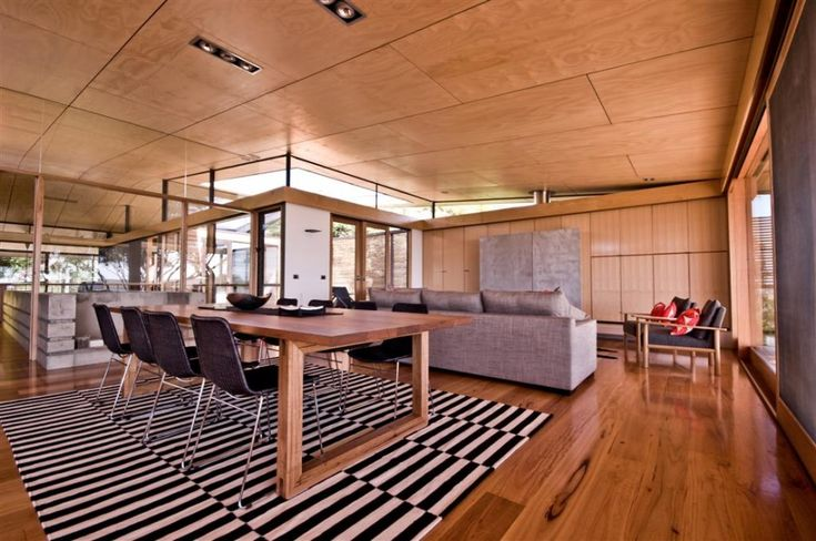 formed plywood ceiling, clerestory
