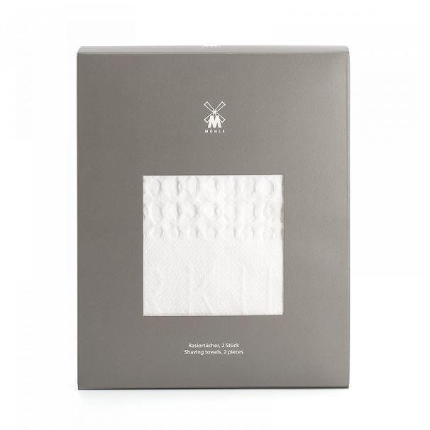 Für eine perfekte Nassrasur unentbehrlich: Waffel-Piqué Rasiertücher, weiß, reine Baumwolle, 2 St. (€ 9,95). | Mühle