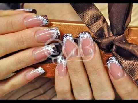 Nail Art Step-by-step: flower and chocolate blossom