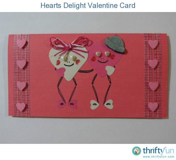 Use a heart-shaped cookie cutter and a heart-shaped paper punch to create two stickmen hugging each other for this fun Valentines Day card for kids.