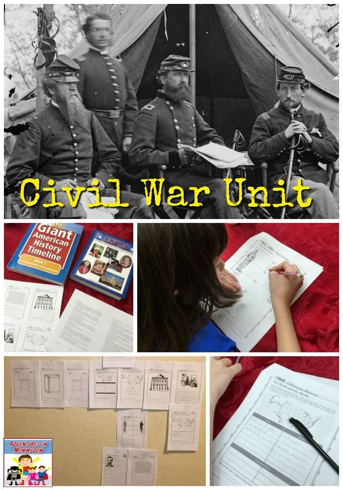 Civil war unit using Great American History Timelines