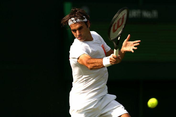 Roger Federer in practice - Scott Heavey/AELTC