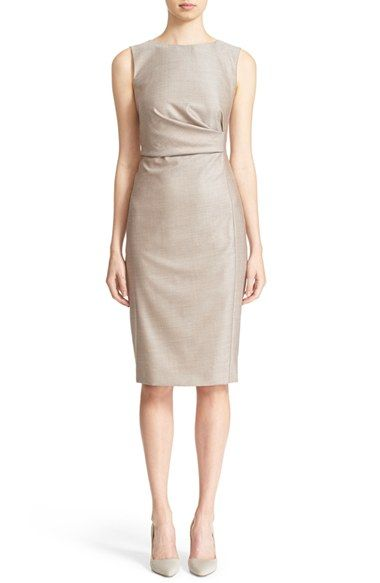 Max Mara 'Antony' Sleeveless Sheath Dress available at #Nordstrom