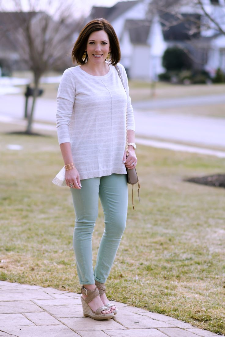 How to Wear Pastel Jeans