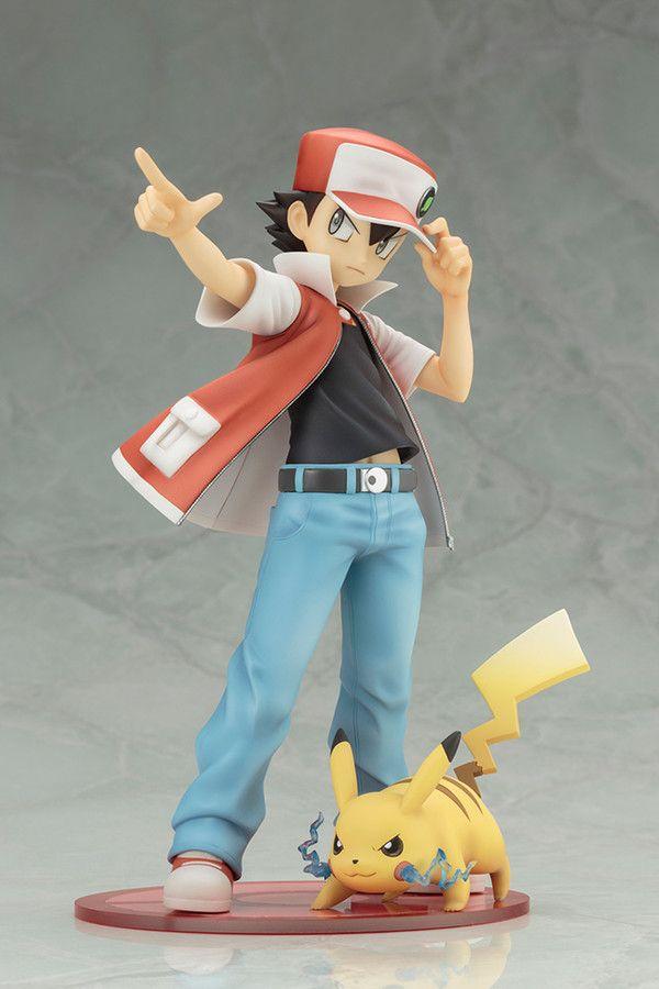 Pocket Monsters - 1/8 - Pikachu & Red - Pokémon Figure Series - Kotobukiya (Nov 2016) - Statuen / PVC - Figuren - Japanshrine