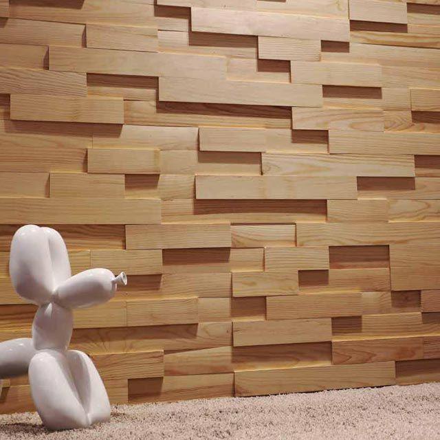 plaquettes de parement bois adhesives castorama. deco salon