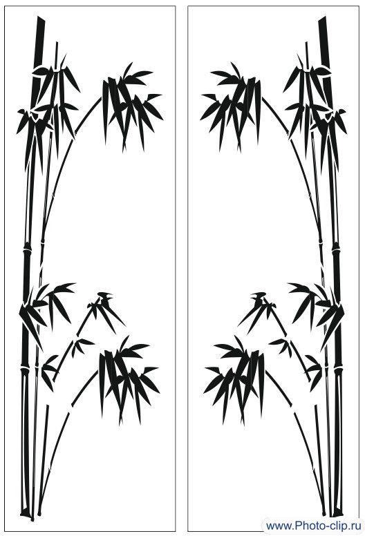 Пескоструйный рисунок  бамбук 114