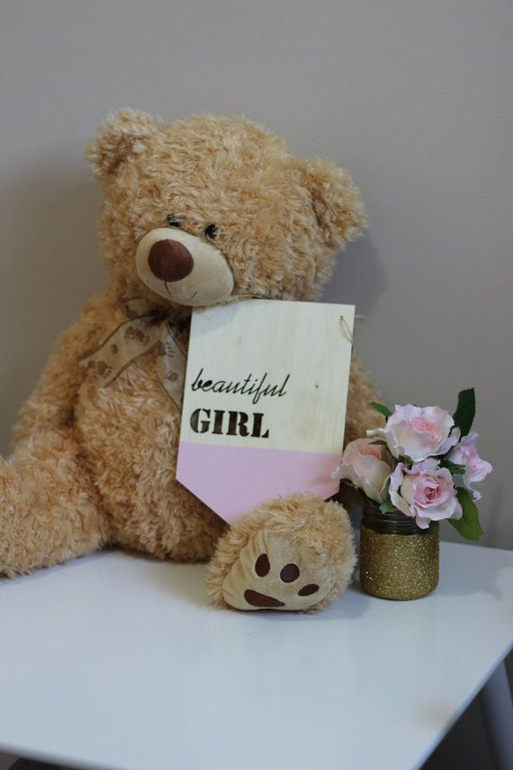 The painted BEAUTIFUL GIRL timber plaque from Katrina Louise Designs is perfect to decorate a baby girls room or nursery. Available in many other colours.