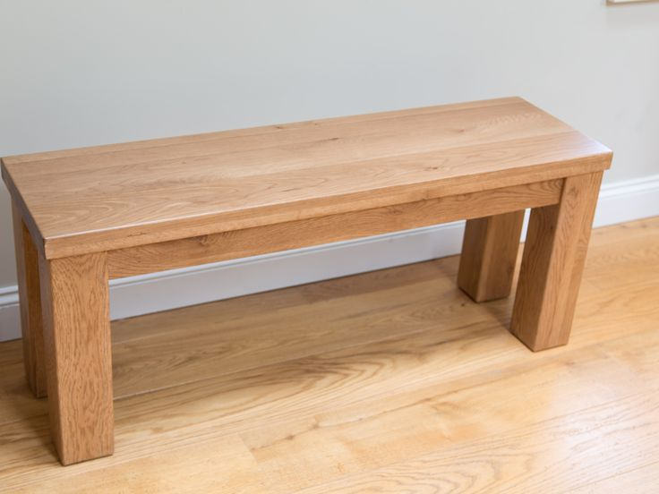 1.5m Solid Rustic Oak Dining Bench Chunky Country Design