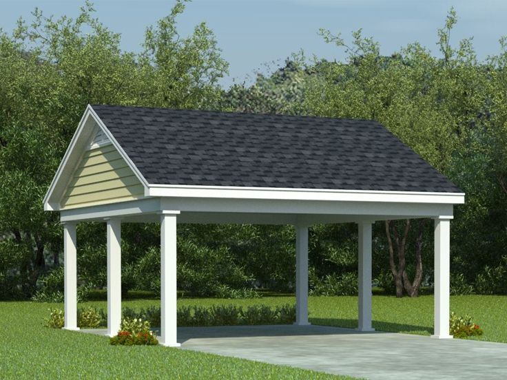 25 best attached carport ideas on pinterest patio roof for Open carport plans