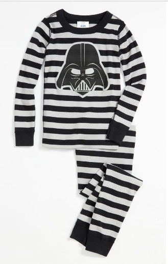 Hanna Andersson 'Vader' pajamas- for boys who live Star Wars!