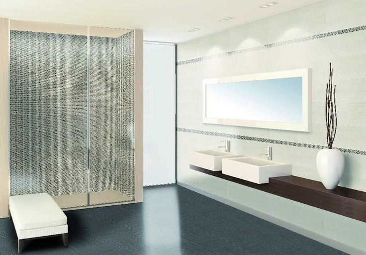 Azulev Motive. Moderne baderomsserie i varme toner.