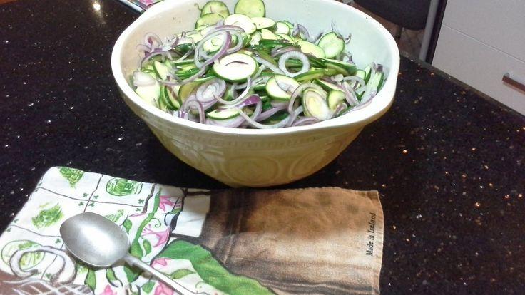 Happy Retiree's Kitchen: Zucchini Pickles #pickles #zucchini #zucchini pickles