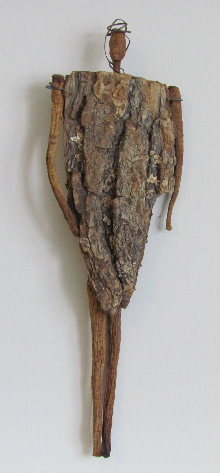 Sculpture out of found, natural objects