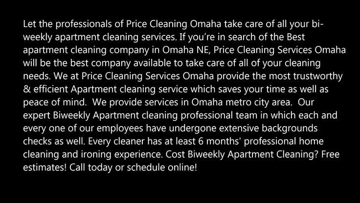 Biweekly Apartment Cleaning Company In Omaha Ne Price Cleaning Services Cleaning Service Junk Removal Omaha Nebraska
