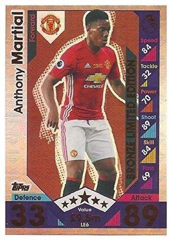 Topps Match Attax 2016/2017 Anthony Martial Bronze Limited Edition 16/17 Trading Card #mufc #football
