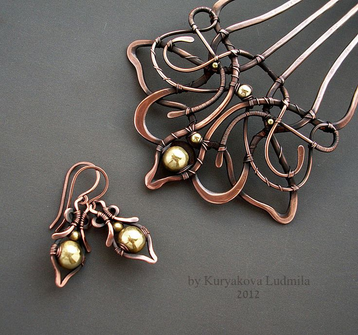 VINTAGE WEDDING earrings and Jewelry crest set. by KL-WireDream on DeviantArt
