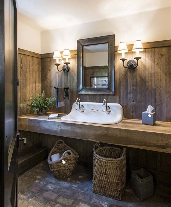 14 Amazing Farmhouse Trough Bathroom Sink Designs Bathroom