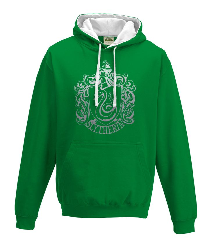 Harry Potter Slytherin house Quidditch hoodie in Greenand white by iganiDesign on Etsy