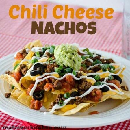 Chili cheese nachos | Food ideas | Pinterest