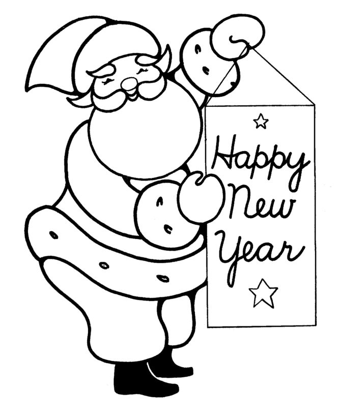 Top 10 New Year Coloring Pages