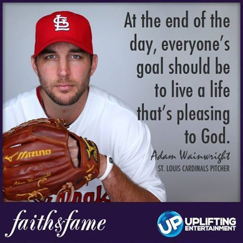 Adam Wainwright - St Louis Cardinals Baseball Pitcher World Series - Faith Fame