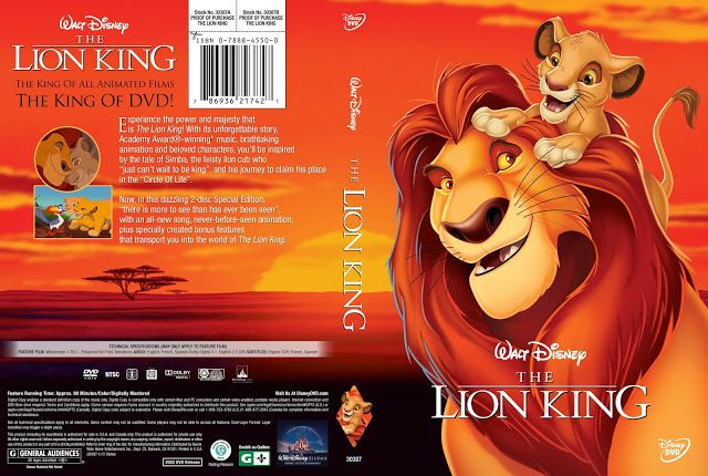 The Lion King 1994 Dvd Cover Dvd Covers The Lion King 1994 Lion King