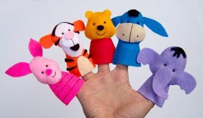 pooh and friends felt fingerpuppets