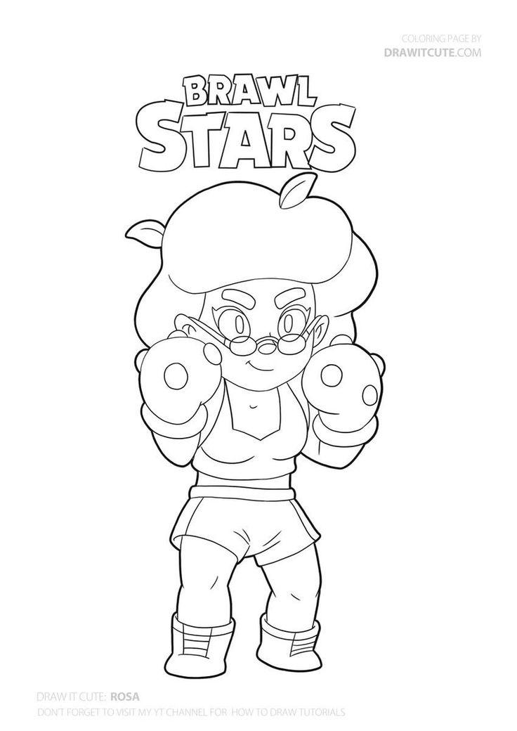 Rosa Browl Stars #brawl #brawlstars #draw #drawings #howto ...