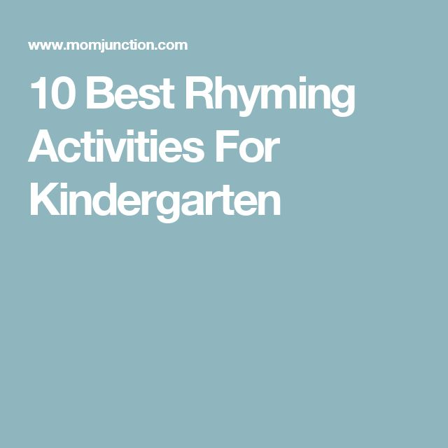 10 Best Rhyming Activities For Kindergarten