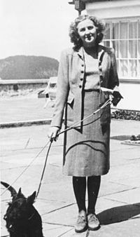 Eva Anna Paula Hitler (née Braun; 6 February 1912 – 30 April 1945) was the longtime companion of Adolf Hitler and, for less than 40 hours, his wife. Braun met Hitler in Munich when she was 17 years old, while she was working as an assistant and model for his personal photographer, and began seeing him often about two years later. She attempted suicide twice during their early relationship. By 1936, she was a part of his household.