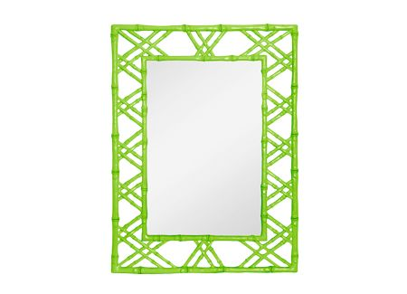 Bungalow 5  CLA-670-07  CLAIRE MIRRORCLA-670-07    FAUX BAMBOO: LACQUER FINISH    Dimensions 31 X 40H    Finishes White Black Green Light Blue