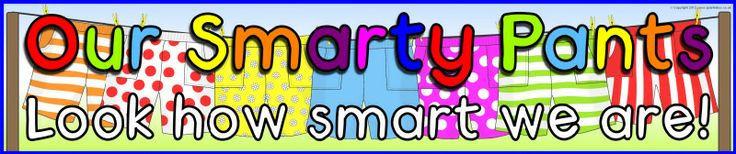 Our Smarty Pants display banner (SB8053) - SparkleBox