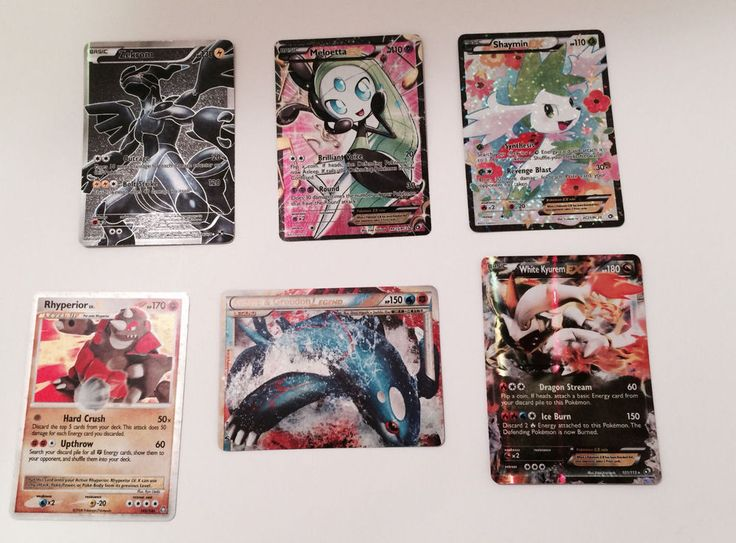 Pokemon Full Art Holo's lot of 4/6 Cards.Shaymin EX, Zekrom, White Kyurem,