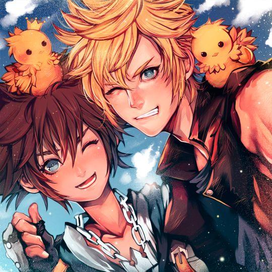Kingdom Hearts Sora Final Fantasy Prompto
