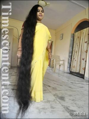 reshma kamble of india has 6 ft 10 in of hair long hair