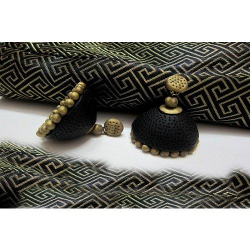 Black Terracotta earing! - Online Shopping for Earrings by Beautifulclayjewellery
