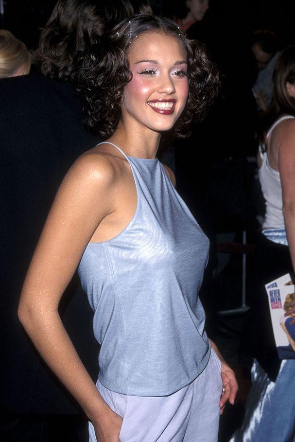 Le premier tapis rouge de Jessica Alba en 1999