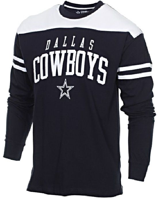 Dallas Cowboys Mens Bravery Embroidered Long Sleeve T Shirt $34.95