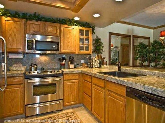 Backsplash For Kitchen With Honey Oak Cabinets Google