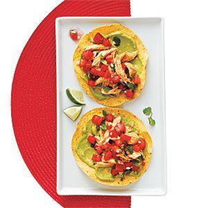 50 Rotisserie Chicken Recipes   Chicken and Guacamole Tostadas   CookingLight.com